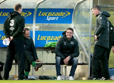 Brady met O'Neill and Keane after coming over to Dublin despite being injured in November.