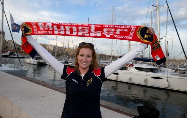 Munster fan Jane Malone from Nenagh Co Limerick in Marseille