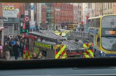 VIDEO: Shocking CCTV footage of rush-hour ambulance crash in Dublin city centre