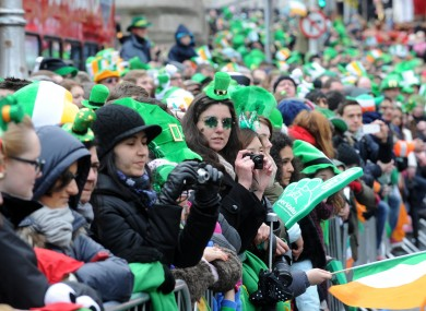 St. Patricks Day Parade in Dublin.