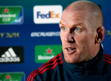 Munster's Paul O'Connell is eyeing his fourth Heineken Cup final.