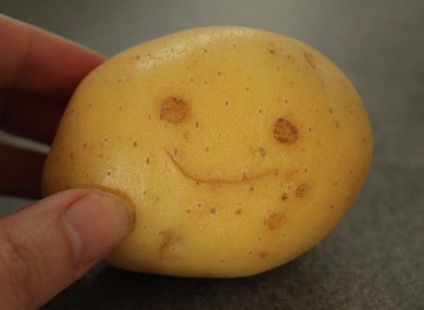 A potato, much like the one used to rob the shops. Only sadder.