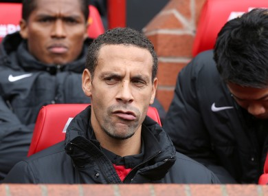 Rio Ferdinand: wants to extend contract.