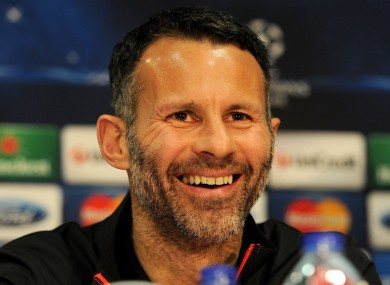 Ryan Giggs will lead Manchester United for the remainder of the season.