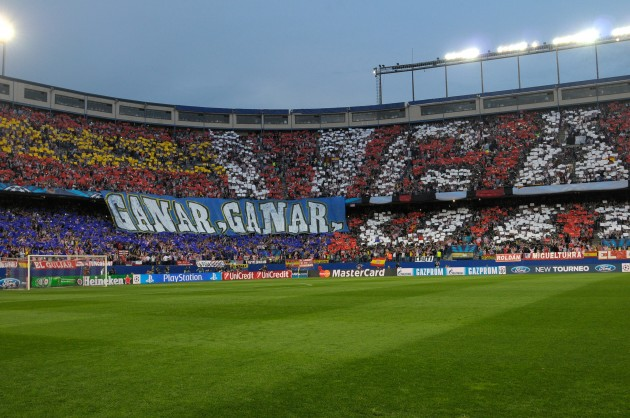 Soccer - UEFA Champions League - Quarter Final - Second Leg - Atletico Madrid v Barcelona - Vicente Calderon Stadium