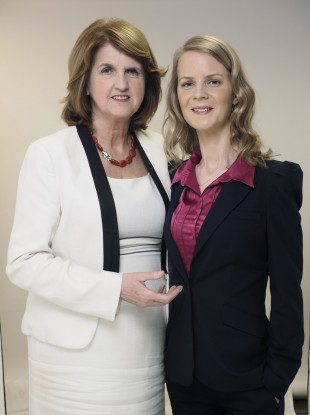 Joan Burton and Loraine Mulligan