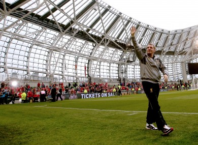 Rodgers at the Aviva Stadium this month.