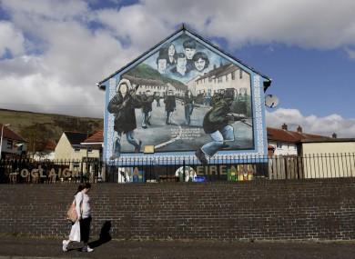 IRA mural in West Belfast.