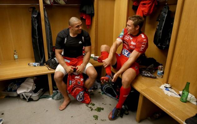 Bryan Habana and Jonny Wilkinson