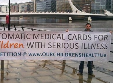 Kevin Shorthall and Peter Fitzpatrick from Our Children's Health campaign.