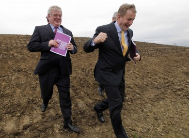 The Tánaiste and Taoiseach in Abbotstown this week where they outlined the government's new construction strategy.