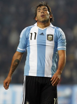Tevez hasn't played for Argentina since 2011.