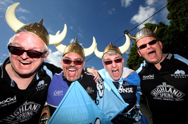 Glasgow fans before the game