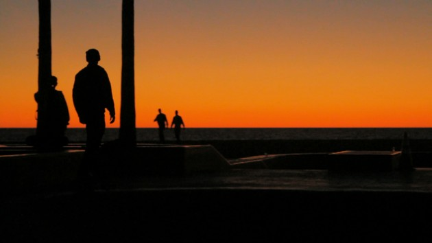 Hill Street - Skateboarders at Sunset