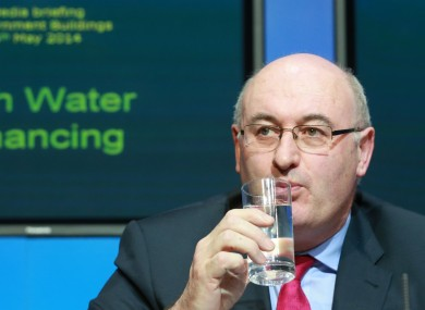 Phil Hogan announcing the plans for water charges earlier this month.