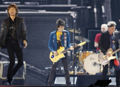 The Rolling Stones perform during a concert at Tokyo Dome.