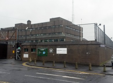 Antrim Police Station, where Sinn Fein president Gerry Adams was held.