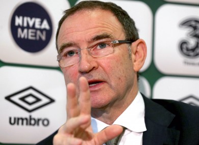 O'Neill in relaxed form in Abbotstown today, until Seamus Coleman was brought up.