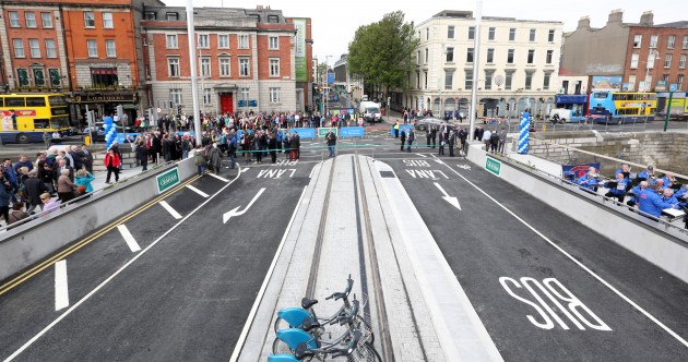 You can walk or cycle over the Rosie Hackett Bridge from tomorrow