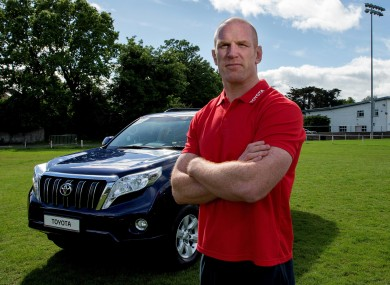 Paul O'Connell is a Toyota Ireland Sporting Ambassador.