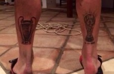 Sergio Ramos gets Champions League tattoo to match his World Cup one