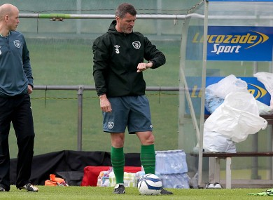 Quittin' time? Roy Keane at Gannon Park this morning.
