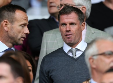 Jamie Carragher: this season can be a springboard.