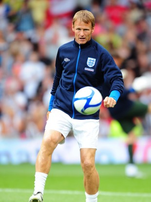 Sheringham at a charity match in 2010.