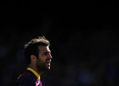 Cesc Fabregas: doubt over future at Nou Camp.