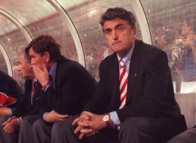 Radomir Antic, Atletico Madrid manager in 1997.