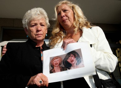 Christine Keegan (left) and her daughter Antoinette Keegan, whose two sisters Mary and Martina perished in the fire.