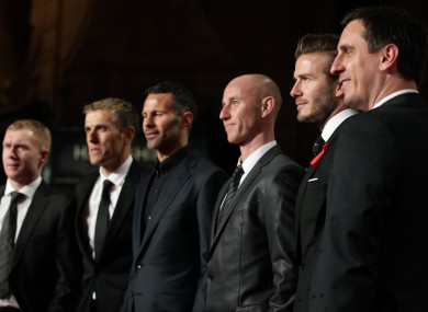 The Class of 92 at the premier of their documentary last December.