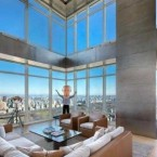 This 9,000 square-foot home, owned by hedge fund manager Steve Cohen, is on sale for the first time. It was initially listed for $115 million.  The apartment has many luxurious touches, including Venetian plaster walls, touch pads for lighting control, heated bathroom floors, and electronic window shades.  No word on whether the sculpture of the bald man (a depiction of Picasso) is included.<span class=