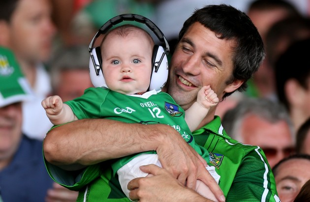 7 month old Susie Burke with her father Paul
