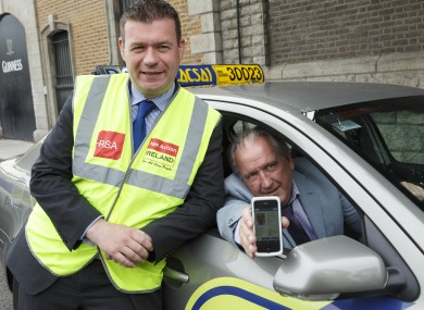 Alan Kelly and taxi driver Gerry Macken.