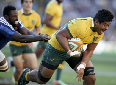 Skelton scored his first Wallabies try inside 10 minutes.