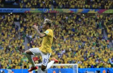 Neymar powers Brazil into second round