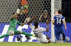 10-man Costa Rica hang on in extra-time and see off Greece with perfect penalties
