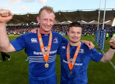 Leo Cullen and Brian O'Driscoll bowed out as league winners.