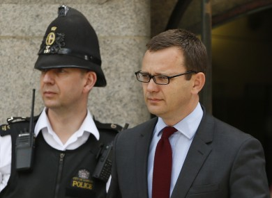 Andy Coulson leaving court today.