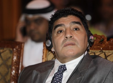 Maradona says those responsible for the alleged bribes should be held accountable.