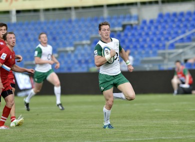 Craig Gilroy moves to fullback after scoring two tries on the right wing against Russia.