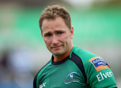 An emotional Parks after his final Connacht game in May.
