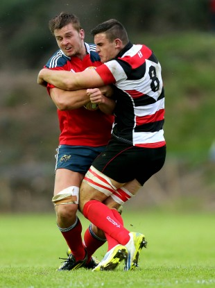 Ashe in action for Stirling County against Munster in the B&I Cup last October.