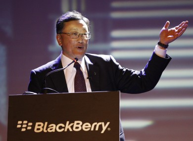 Blackberry CEO John Chen at the launch of the new Blackberry Z3 smartphone in Indonesia last month.