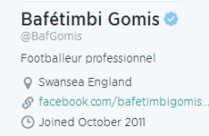 Bafetimbi Gomis has signed for Swansea – but doesn't seem know which country it's in