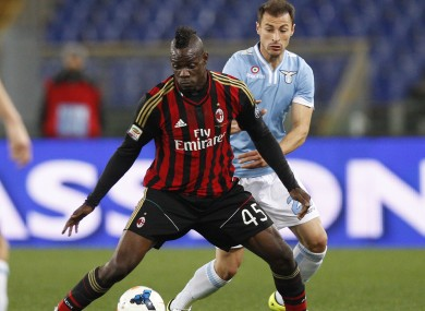 Balotelli has been at Milan since joining from Man City in 2013.