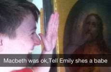 This Leaving Cert student is Snapchatting his hilarious exam conversations with Jesus