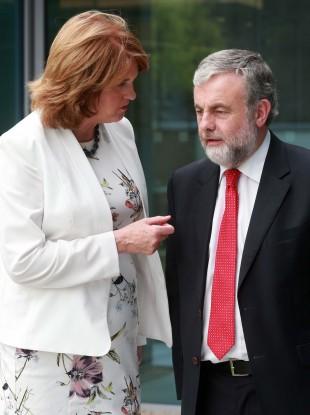 Joan Burton chats to President of SIPTU Jack O'Connor.