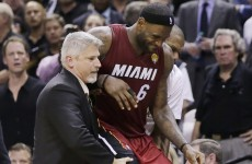 LeBron suffers from dehydration as the Spurs stun the Heat in game one of NBA finals